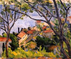Estaque, View through the Trees - Paul Cezanne - 1878-1879