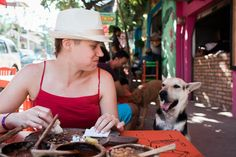 Tanja making new friends in Mexico