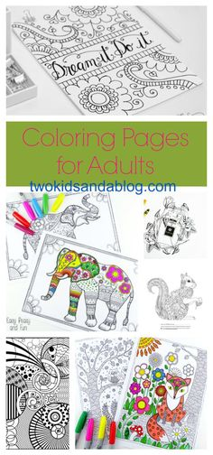 Coloring Pages for Adults - twokidsandablog.com