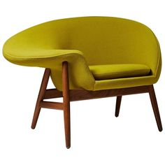 Armchair Designed by Hans Olsen for Bramin, Denmark, 1956 | From a unique collection of antique and modern chairs at https://www.1stdibs.com/furniture/seating/chairs/