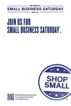 Small Business Saturday- support local crafts & businesses