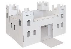 White Line #Ritterburg von #joyPac®. ● Zum #Basteln und #Bemalen. ● Schnell und einfach aufgebaut ● Aus hochwertigem #Karton. ● Aufgestelltes Format: 51 x 38 x 30 cm. ● #Wellpappe, #Karton, #Kreativ, #Spielen, #Dinkhauser Kartonagen