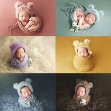 Buy 3pcs/set Newborn Infant Photography Wraps Knitted Baby Boys Girls Photo Props Faux Fur Hat Strong Stretch Blanket Bear Doll at www.babyliscious.com! Free shipping to 185 countries. 21 days money back guarantee. Newborn Photo Props, Newborn Photos, Baby Pictures, Baby Photos, Stylish Baby Clothes, Baby Knitting, Knitted Baby, Bear Doll, Foto Baby