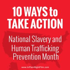 As President Barack Obama proclaims January 2015 as National Slavery and Human Trafficking Prevention Month, we have the opportunity to open our eyes to what's happening around us in plain sight.