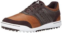 These water-resistant mens Adicross III golf shoes by Adidas feature an abrasion-resistant outsole and versatile spikeless traction