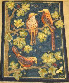 Hooked Rug ... Birds