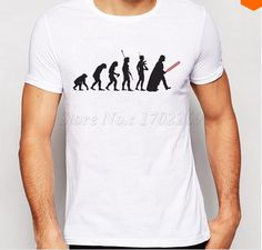 New Arrival Fashion Star Wars Human Evolution T-Shirts For Men Human Evolution, Evolution T Shirt, Star Fashion, Mens Tops, Star Wars, Shirts, Clothes, Products, Outfits