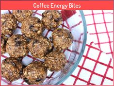 Coffee Energy Bites #bites #coffee #energy Good Protein Snacks, Protein Energy Bites, No Bake Energy Bites, Protein Ball, Healthy Snacks, Energy Balls, Healthy Eating, High Protein, Healthy Recipes