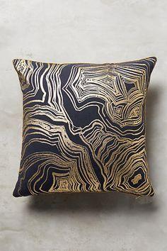 Anthropologie Gleaming Rings Pillow