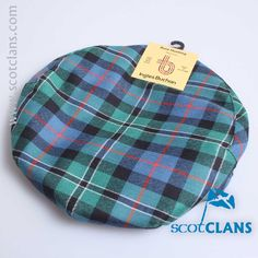 Pure wool cap in Rose Ancient tartan - available from ScotClans