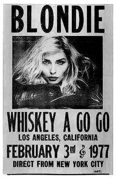 Blondie Concert Poster, late 1970's.