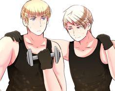 After Training by XXXxVivixXXX on DeviantArt - APH Hetalia Prussia Germany - Beilschmidt Brothers <3