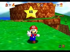 Mario getting a star in Super Mario 64