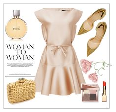 Elegant Affair by sanya-alie on Polyvore featuring polyvore fashion style Paule Ka Christian Louboutin Tejido Bobbi Brown Cosmetics Clarins Chanel clothing chic formal Elegant