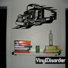 Semi Truck Wall Decal - Vinyl Decal - Car Decal - DC 022