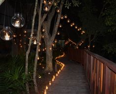 Hanging candle lights in Playa del Carmen, Mexico