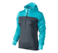 Womens Nike Thermal Hoody Long Sleeve 1/2 Zip Technical Tops at Road Runner Sports