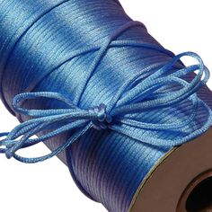 Perfect for Kumihimo braiding, craft projects, scrap-booking, and MORE! 50 Yards Feet) of SATIN Rattail Cord ~. This satin nylon cord is in size, soft and easy to handle. Spool below is 200 yards - shown to display the amazing color. Hand Pictures, Blue Crafts, String Crafts, Hobby Supplies, Macrame Projects, Fabric Ribbon, Macrame Jewelry, Decor Crafts, Rat