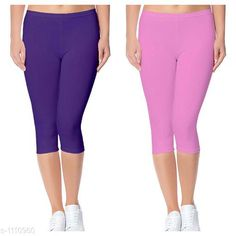 Capris Trendy Cotton Lycra Capris Leggings Fabric: Cotton Lycra Size: Up To 28 in to 36 in( Free Size) Length: Up To 34 in  Type: Stitched Description: It Has 2 Piece Of Women's Capris Pattern: Solid Country of Origin: India Sizes Available: Free Size, 24, 26, 28, 30, 32 *Proof of Safe Delivery! Click to know on Safety Standards of Delivery Partners- https://ltl.sh/y_nZrAV3  Catalog Rating: ★4 (2888)  Catalog Name: Alice Trendy Cotton Lycra Capris Combo Leggings CatalogID_136944 C79-SC1037 Code: 742-1110960-