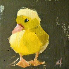 """yellow ducking no. 4"" - Original Fine Art for Sale - © Angela Moulton"