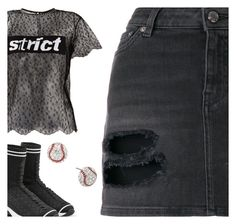 """""""mini skirt"""" by sharmarie ❤ liked on Polyvore featuring Givenchy, Alexander Wang and Fendi"""