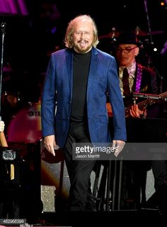 Singer-songwriter Barry Gibb performs onstage at the Pre-GRAMMY Gala and Salute To Industry Icons honoring Martin Bandier at The Beverly Hilton Hotel on February 7, 2015 in Beverly Hills, California./eo