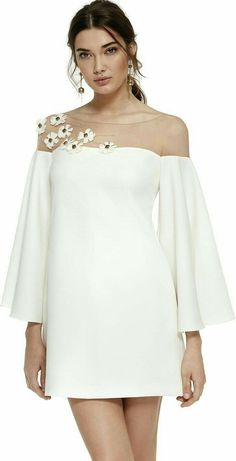 Carla Ruiz Occasion Coll' Add a crochet top instead of sheer! Cute Dresses, Beautiful Dresses, Casual Dresses, Short Dresses, Fashion Dresses, Formal Dresses, 50s Dresses, Elegant Dresses, Evening Dresses