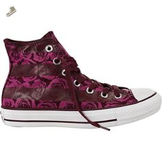 Converse Womens Chuck Taylor Hi Bordeaux Floral Print Textile Trainers (8 M(B) US, Deep Bordeaux/Pink) - Converse chucks for women (*Amazon Partner-Link)