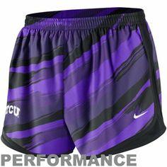 Nike TCU Horned Frogs Ladies Seasonal Painter Performance Shorts - Purple- small