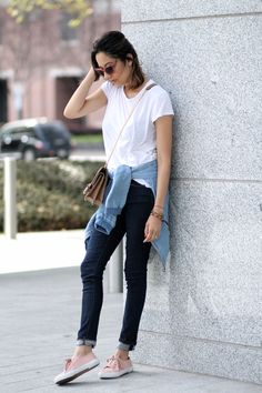 Casual Friday: Blue Jeans, White Tee