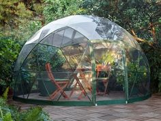 The Garden Igloo is a Pop-Up Geodesic Dome Perfect for Any Backyard Garden Igloo Geodesic Dome – Inhabitat - Green Design, Innovation, Architecture, Green Building Jacuzzi, Ideas Terraza, Landscape Design, Garden Design, Dome Greenhouse, Dome House, Geodesic Dome, Marquise, Dream Garden