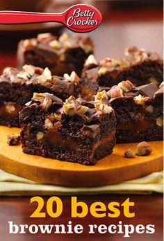 Bargain e-Cookbook: 20 Betty Crocker Best Brownie Recipes {99 cents!} #brownies