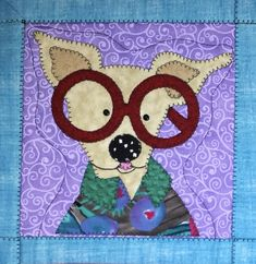Chihuahua Dog quilted wall hanging