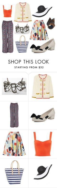 """""""Summery"""" by drewsiemac ❤ liked on Polyvore featuring Chris Habana, Moschino Cheap & Chic, River Island, Dorothy Perkins, Alice + Olivia, Motel, BCBGeneration, Helene Berman, Cosmic Thread and stripes"""