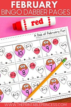 37 pages of February themed no-prep literacy and math pages. These pages are great for printing and keeping on hand for morning work, when you need to fill some time, there's a schedule change, or a sub! Themes included in this packet: Groundhog Day, Valentine's Day, President's Day and Dental Health. Kindergarten Classroom Games, Kindergarten Centers, First Grade Classroom, Primary Classroom, Math Centers, Classroom Ideas, Word Work Activities, Health Activities, Counting Activities