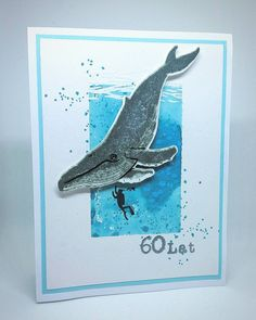 Distress Oxides, Blue Whale, Card Tutorials, Tampons, Aga, Hero Arts, Birthday Cards, Moose Art, Stamp