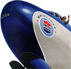 Plan59 :: 1950s Illustration :: United Air Lines, 1952