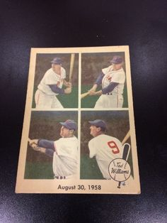 1959 Fleer Ted Williams SETBREAK August 30, 1958 #65 MINT  | eBay