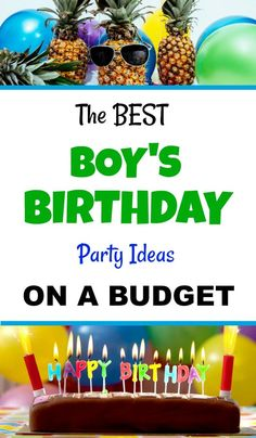 DIY Party for Kids! Best Boy's Birthday Party Ideas On a Budget! Want to create . Diy Birthday Party On A Budget, Birthday Party Games, Cake Birthday, Party Party, Birthday Party Decorations, Party Favors, Party Ideas, Party Time, Birthday Gift Bags
