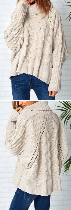Awesome sweater with the perfect length and cut! Mode Outfits, Casual Outfits, Fashion Outfits, Womens Fashion, Sweater Outfits, Looks Style, Looks Cool, My Style, Fall Winter Outfits