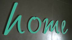 Wandgestaltung  NEU ★  in EMERALD GRÜN ★ von PAULSBECK Buchstaben, Dekoration & Geschenke auf DaWanda.com