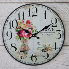 Love wooden clock.