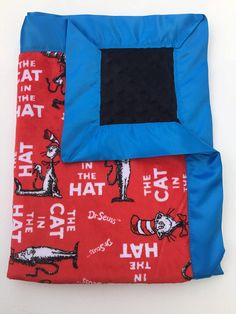 Dr. Seuss Cat in the hat Travel blanket!