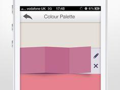 Colour paletter slide
