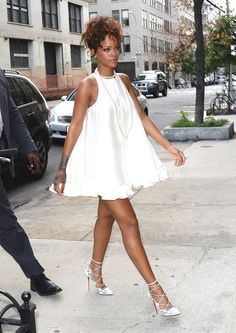 Forget the LBD! This summer, we're all about the Little White Dress, like this one Rihanna is wearing.