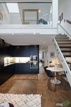 Small loft designs modern maisonette with a charming upstairs bedroom residential design duplex apartment loft kitchen . Loft Kitchen, Home Decor Kitchen, Kitchen Small, Kitchen Grey, Kitchen Upstairs, Stairs Kitchen, Design Kitchen, Kitchen Ideas, Duplex Apartment