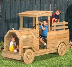 Truck Play Structure Wood Plans Our exclusive backyard Truck Play Structure has all the features to encourage imagination and keep kids playing for hours.