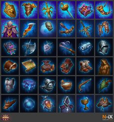"""N-iX Game & VR Studio is proud to share with you artworks performed for roguelike strategy card game Arcanium, developed by Supercombo. It was challenging, and fun process and our team want to say """"thank you"""" to all involved. Icon Design, Ux Design, Vr, Game Art, Card Games, Icons, Studio, Small Stuff, Artwork"""