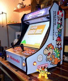 Bornes arcade Pi Arcade, Arcade Bartop, Penny Arcade, Arcade Games, Gaming Cabinet, Diy Arcade Cabinet, Classic Video Games, Retro Video Games, Diy Projects Man Cave