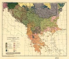Ethnographic Map of the Balkan Peninsula — Viewer — World Digital Library Old Maps, Antique Maps, University Of Vienna, Greece Map, Serbia And Montenegro, Greek History, Historical Maps, Vintage World Maps, Macedonia